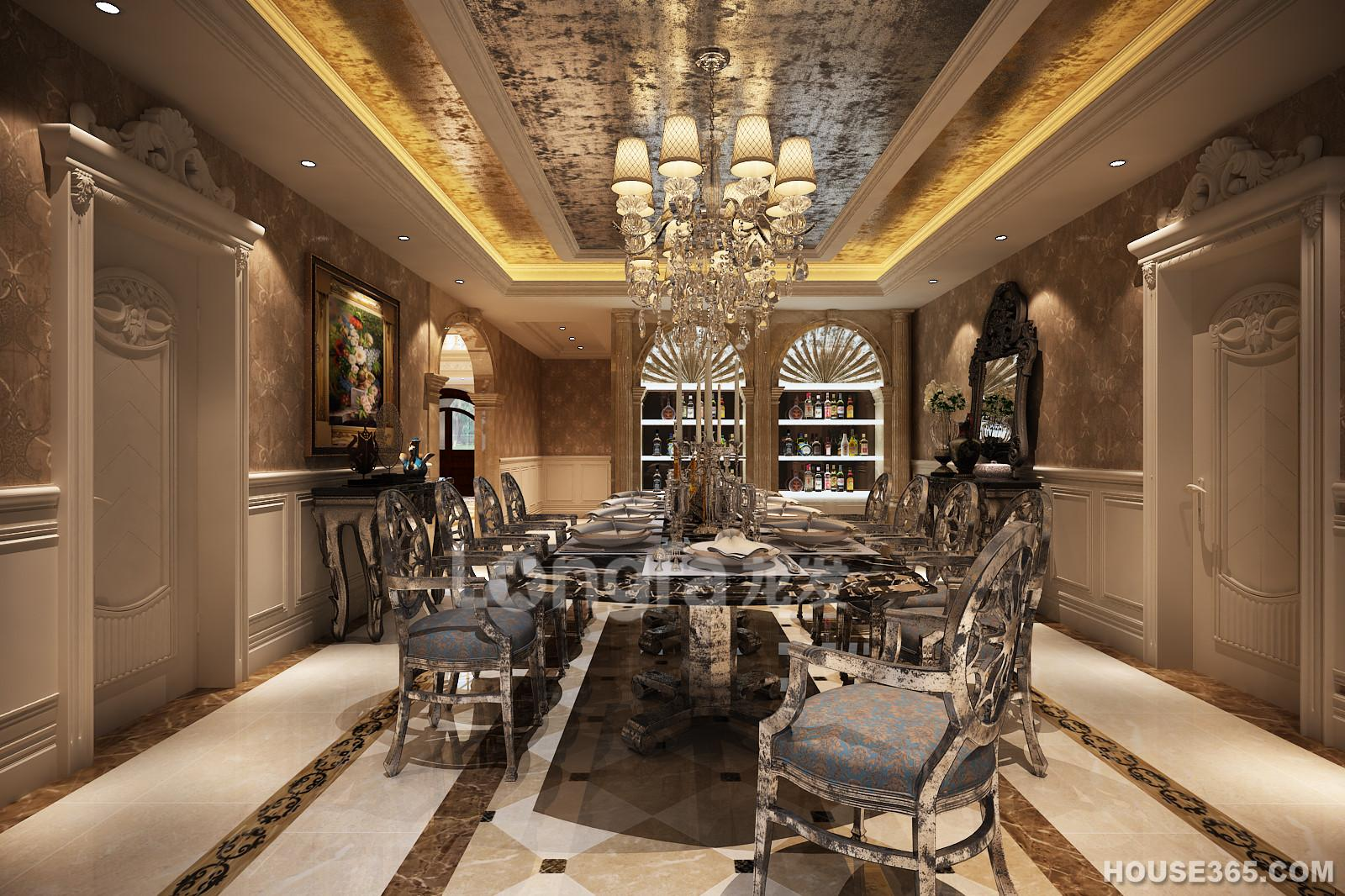 西安龙发-欧式别墅设计案例