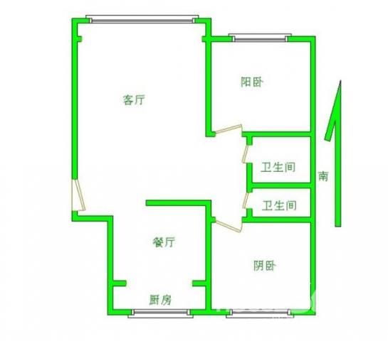 辉达优房 出门地铁口 精装二室二厅 南北通透 合家福商圈