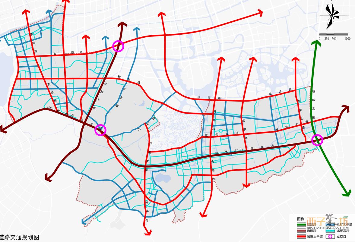 02省道两侧道路规划图