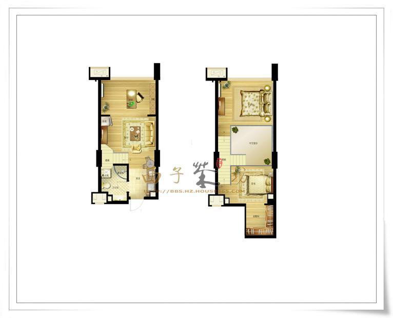 【户型解析】东田怡丰城39方三房loft酒店式公寓户型大解读