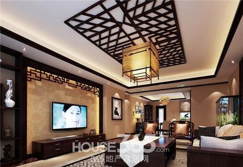中式风格客厅效果图 装出古韵古色