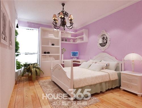 这款卧室装修效果图非常适合甜美系的女生