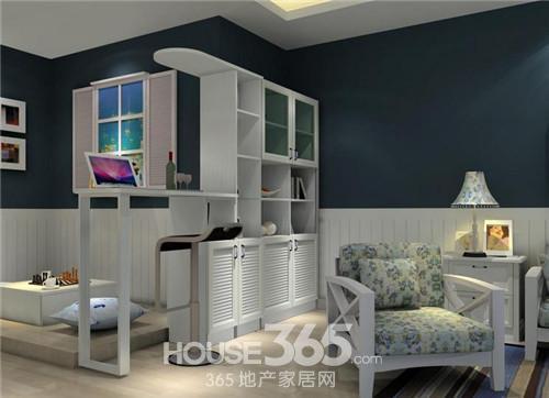 这款客厅隔断效果图中用的是黑白的隔断柜,红酒,工艺品的摆放使整个