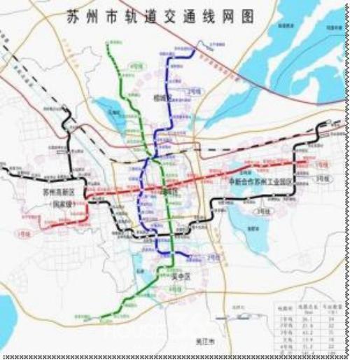 苏州市轨道交通线网图