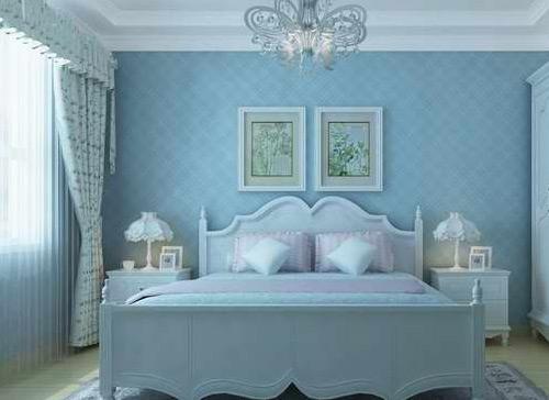 卧室欧式床头石膏线背景墙