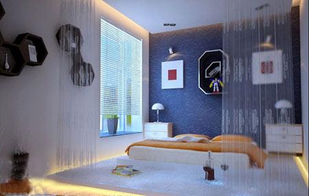 欧式简约卧室背景墙