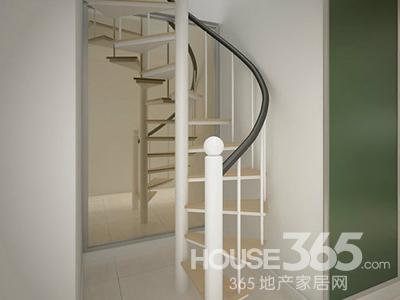 阁楼装修效果图大全:在通往阁楼的楼梯上采用了主人
