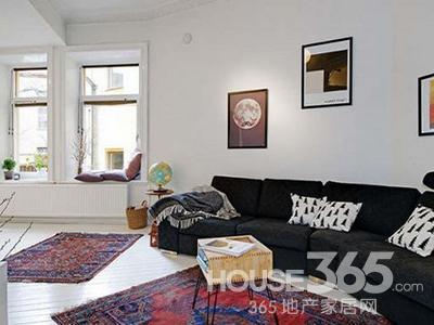 清新/50平方装修效果图:该50平米的小户型居室采用了隔层的方式来...