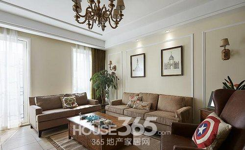 三室两厅装修效果图 10万半包135平米简美家