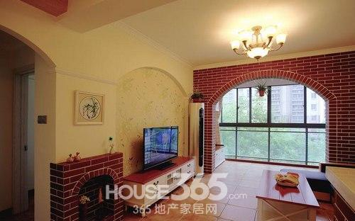 乡村风格装修图片 90平米两室两厅温馨舒适