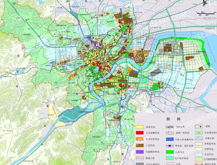 杭州市城市总体规划图-杭州城市总体规划公示 重点发展2大区域增3