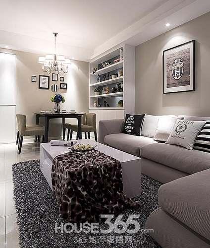 现代简约风格装修效果图 6万半包90平米两居室