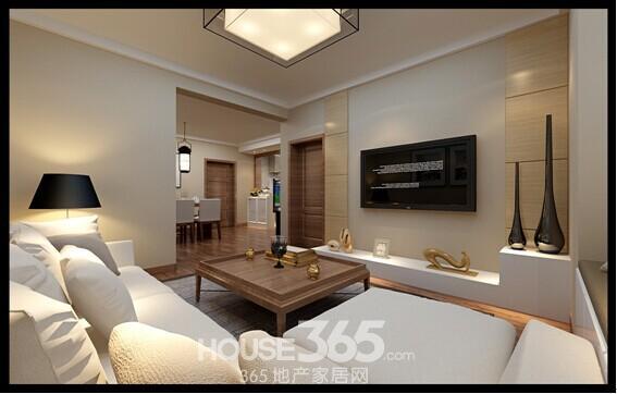 高速时代广场80平户型客厅效果图