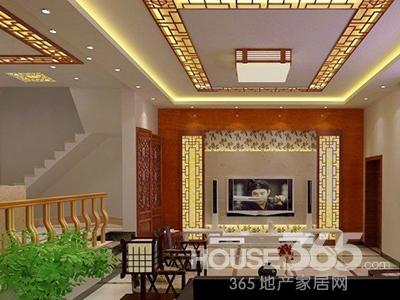 中式仿古电视背景墙 最是刹那芳华