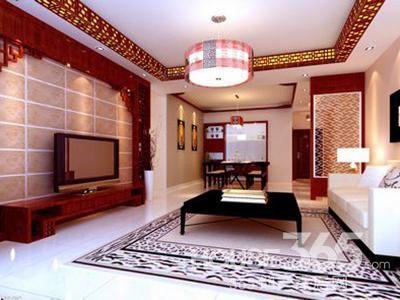 中式仿古电视背景墙 最是刹那芳华图片