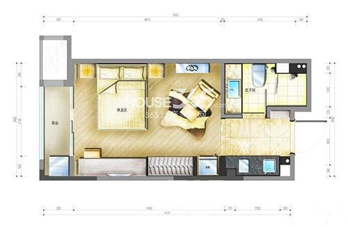 保亿风景晨园酒店式公寓b户型图