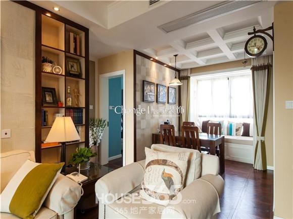 美式装修风格样板房 90平现代美式公寓