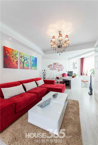 小户型装修实景图 50平现代风格婚房