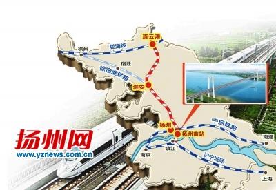 扬州南站将建高架铁路站 西北联络线就近接轨宁启线