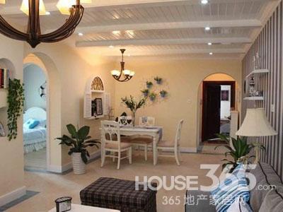 家庭装修样板房:复古小拱门的设计让