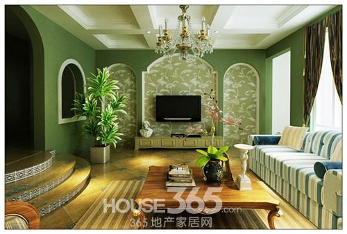 法式田园风格装修图:洗白处理使家具流露出古典的隽永质感