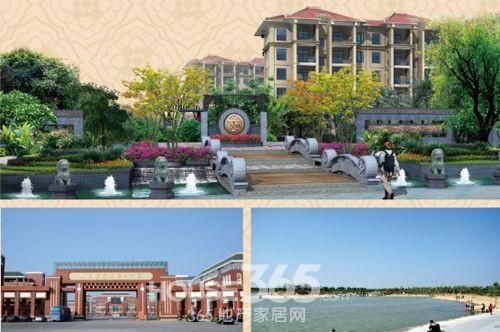 项目建筑风格为新中式建筑风格,外立面整体采用汉唐风格,建筑形体稳重