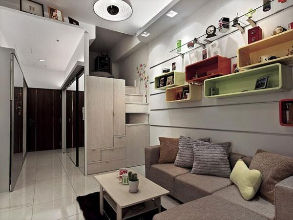 单身公寓装修效果图 超强收纳省空间