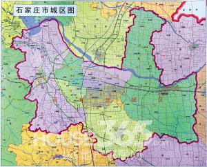 家庄正式公布 行政区划分调整后的城区地图