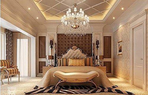 别墅卧室床罩欧式