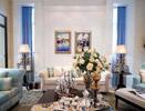 法式别墅装修效果图 白色+蓝色=淡雅