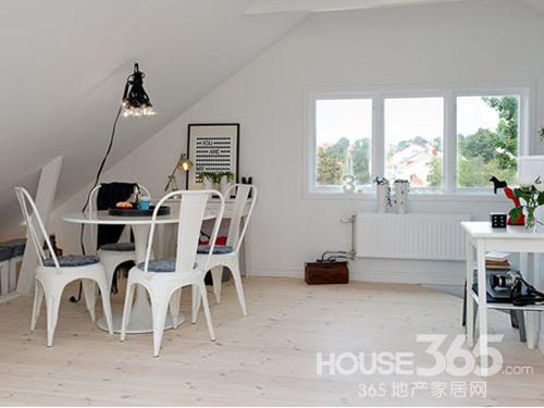 北欧清新风 55平米白色公寓设计图