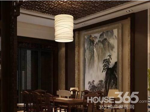 中式风格 餐厅背景墙的装修效果图