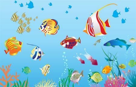 可爱的动物主题画