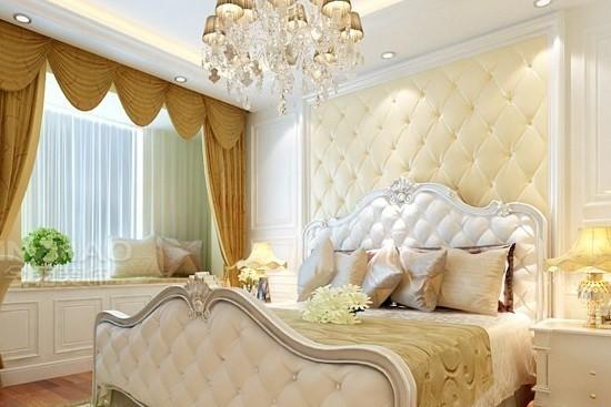 床头背景软包不仅能起到隔音等功能,还能营造整个卧室的风格。下面小编为您介绍的这些卧室床头背景软包效果图引人入胜,如果你也想设计一款独树一帜的风格,不妨采用床头背景软包吧。床头软包是卧室床头常用的背景墙装饰之一,软包一般采用质地较软、色彩柔和的材质做成,不仅起到装饰美化的作用,还具有阻燃,吸音,隔音,防潮,防静电,防撞的功能。当然了,软包的装修也是有讲究的。一起来欣赏这些卧室床头背景软包效果图吧。