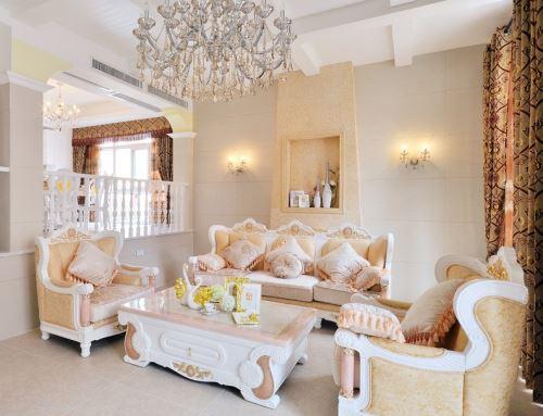 欧式沙发图片:清新淡雅
