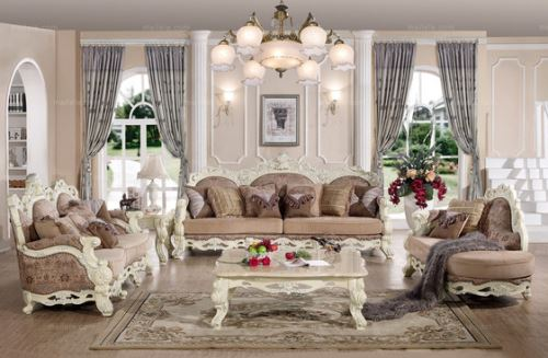着我们再看看这款沙发的布置,淡雅的色调将整个房间都渲染的浪漫温馨