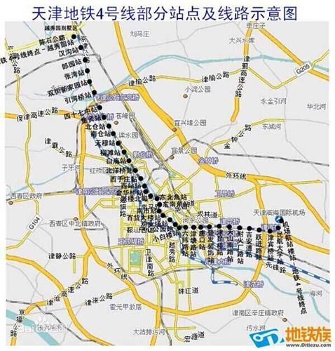 地铁4号线线路图-津地铁4号线启动建设 将拉动区域项目价值图片