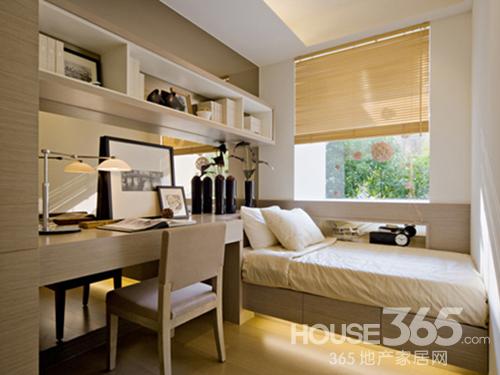 嚣的书香气息 书房装修效果图:采用大片的玻璃窗,从客厅到卧室,高清图片