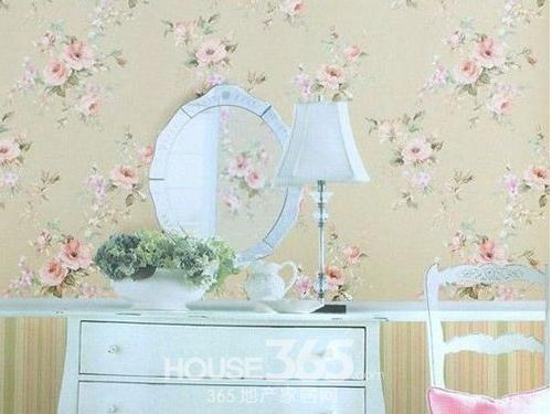 卧室壁纸装修效果图 装饰明亮的家:欧式田园风格墙壁