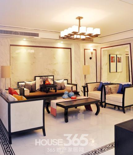 实拍旭日新中式样板房 感受静美空间带来的东方雅韵