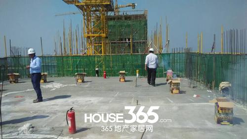 华南城紫荆名都:4号楼主体结构喜封金顶