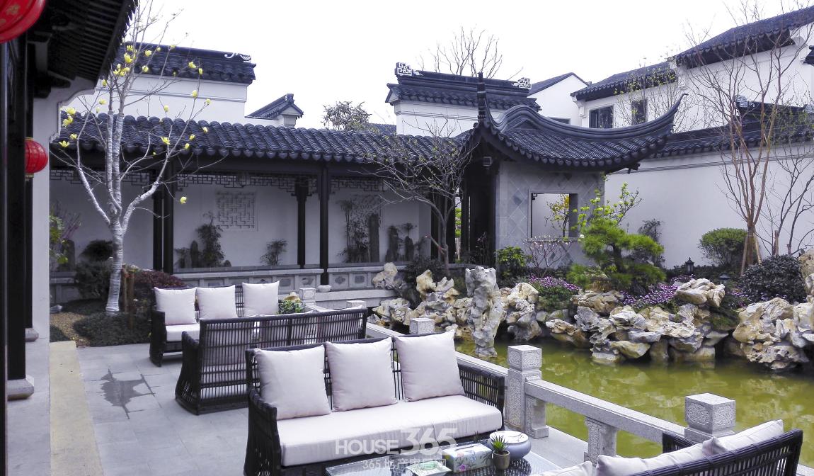 中国风花纹 房子