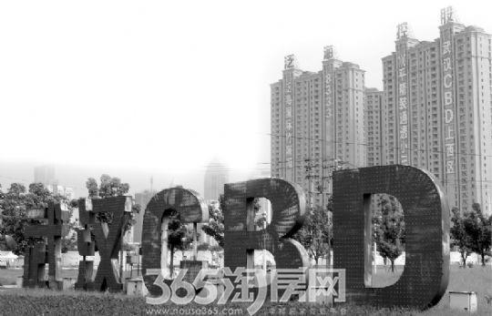 位于武汉市江汉区的武汉中央商务区
