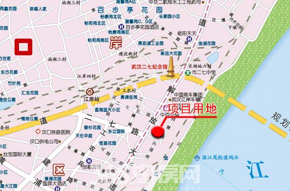 P(2015)048号地块位于江岸区二七沿江商务区,规划总用地面积129350平方米(以实测为准);其中:12号地块规划净用地面积 66200平方米(其中,A地块净用地面积63600平方米,B地块(扩大用地)净用地面积2600平方米,以实测为准),公园地块(C地块)规划净用地面积52860平方米(以实测为准),城市规划道路用地面积10290平方米(以实测为准)。A、B地块地上规划用地性质为商务设施用地、商业设施用地、居住用地,土地分类为商服用地、住宅用地,地下规划用地性质为商业设施用地,土地分类为商服用地