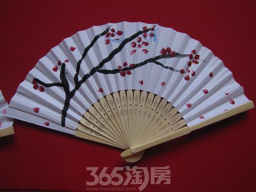 折扇图片 手绘水彩