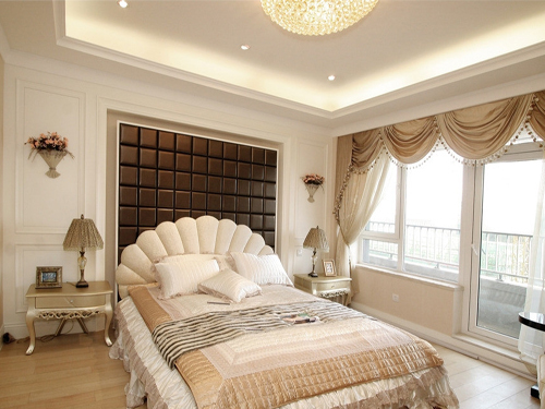 欧式卧室窗户效果图