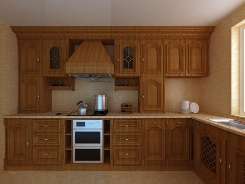 原木的橱柜氤氲清新的自然感,木板下方增加了一排钉子,收纳厨房用品