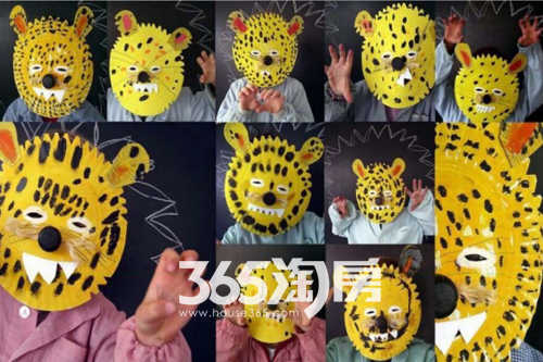 儿童创意手绘面具示意