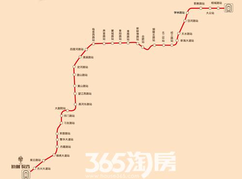 (地铁三号线线路图365淘房资料图片)-原树提香 首付2万起 买地铁3图片