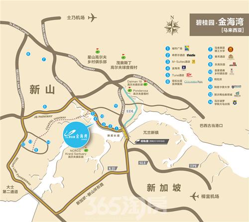 碧桂园金海湾区位图(资料图片)